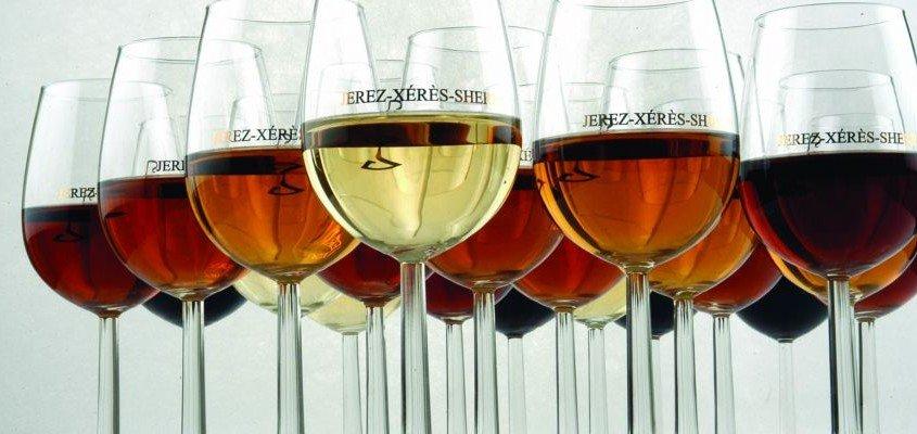 Copas de los vinos de jerez