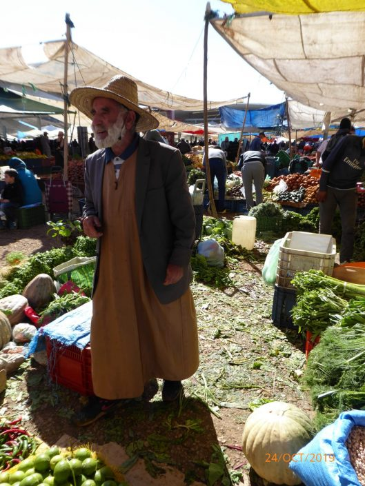 Shopping at a Tangiers market