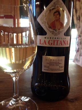 Bottle La Gitana Sherry on Bar