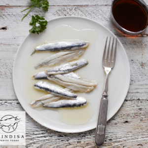 anchovies on a plate