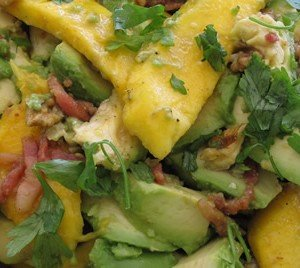 Pepper and avocado salad