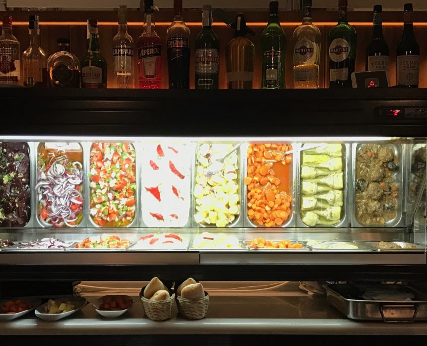 A tapas counter in a bar