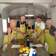 Group on cooking holiday in Spain