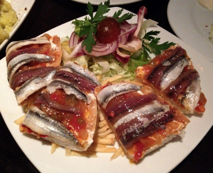 Tapas with anchovies