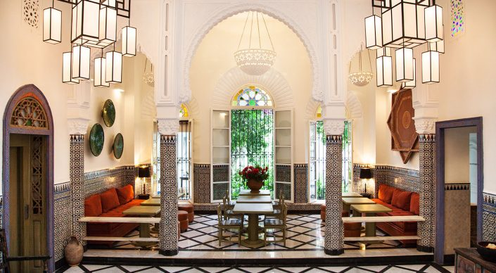 Lobby of Riad Mokhtar, Tanger