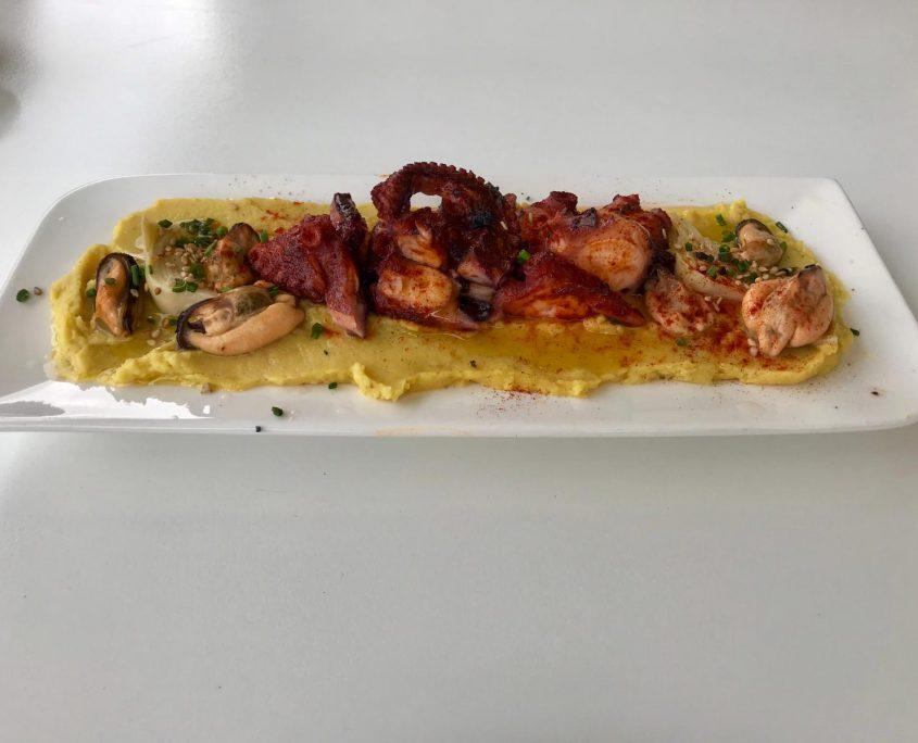 Delicious octopus tapas