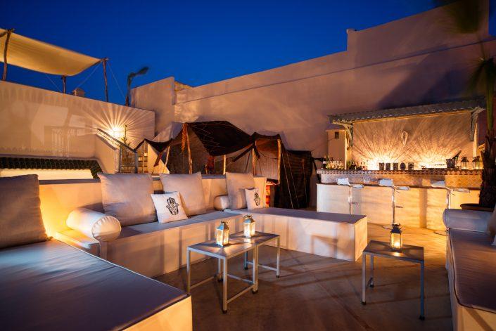 Riad Adore roof terrace