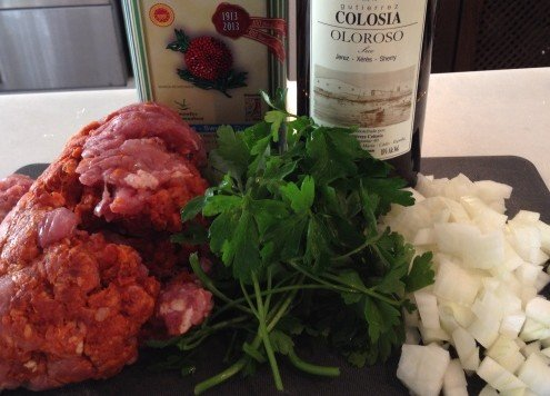 Spanish Cottage Pie Ingredients