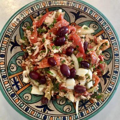Healthy Tuna Salad Recipe with Egg & Olives