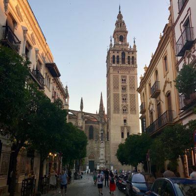 The glorious Giralda tower at Seville's cathedral