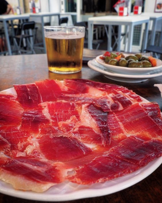 Jamon with beer