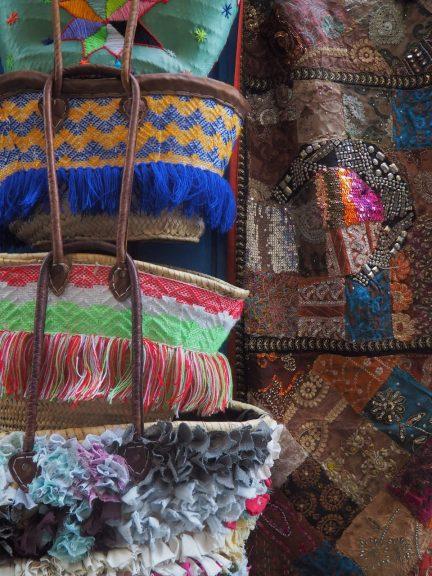 bags in Tangier street market