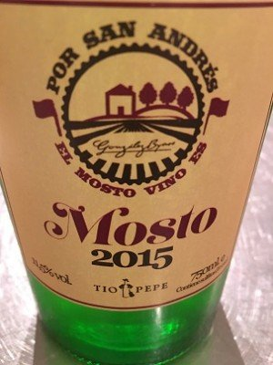 bottle of 2015 mosto