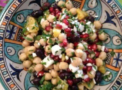 chickpea mint salad