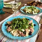Fig & mozzarella salad