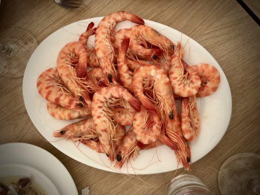 King Prawns in Sanlucar de Barrameda
