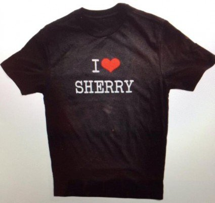 i love sherry t-shirt