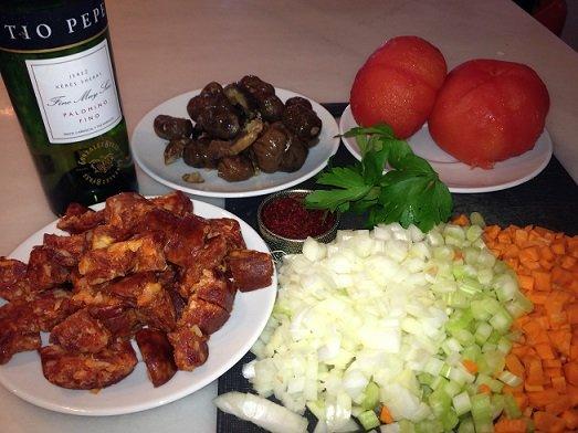 ingredients chestnut chorizo