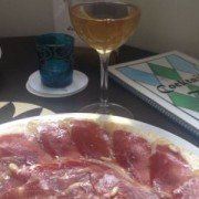 jamon serrano on a plate